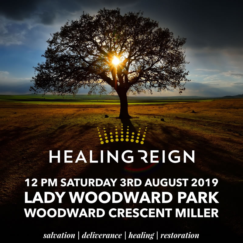 Healing Reign outreach,  Saturday 3rd August 2019
