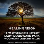 Healing Reign outreach,  Saturday 2nd November