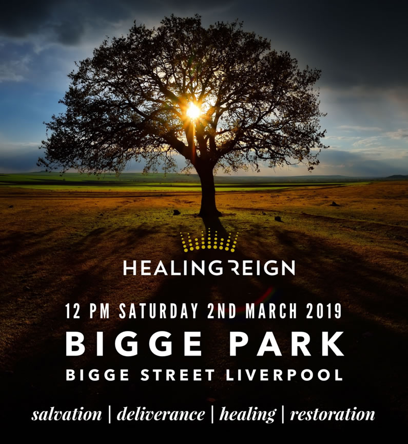 Healing Reign outreach at Bigge Park March 2 2019