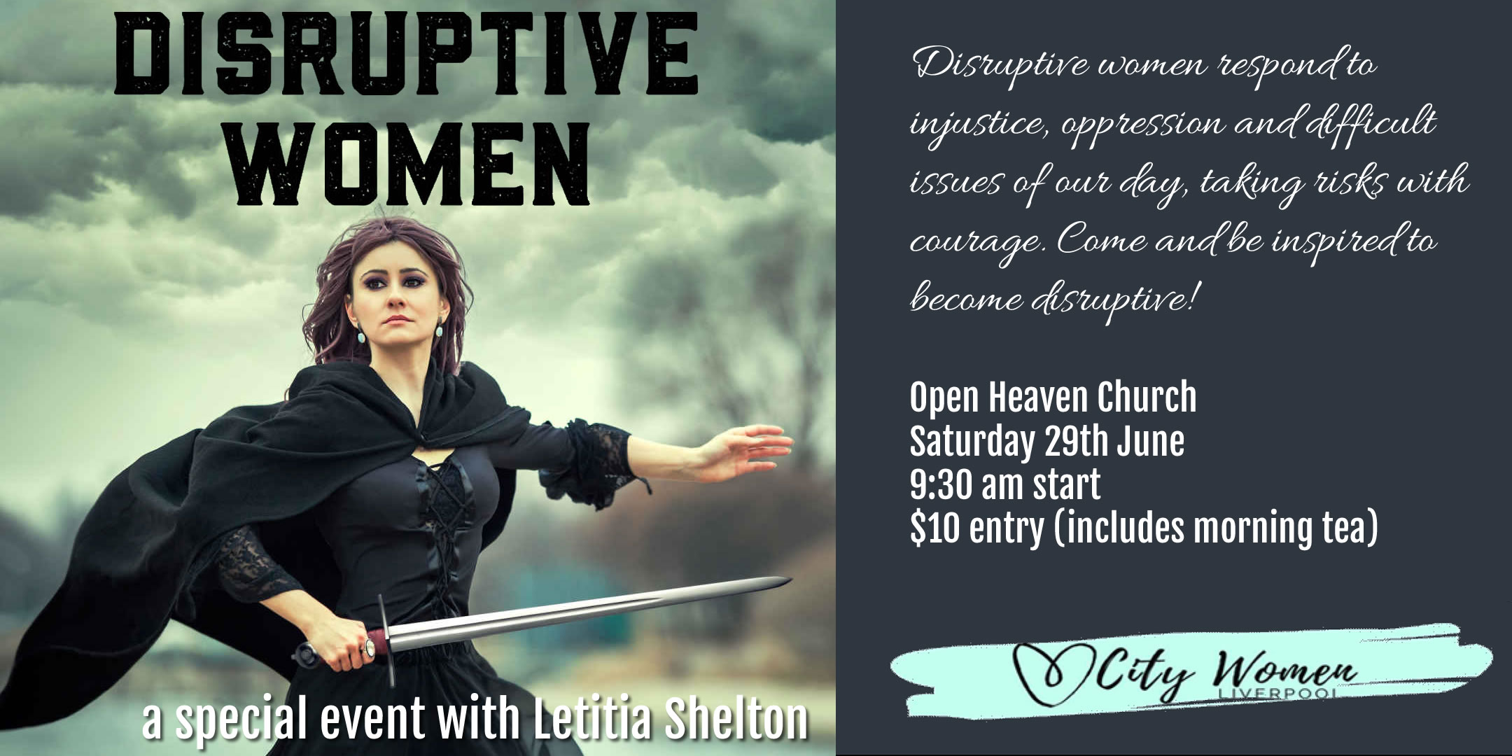 Disruptive Women – a special Event with Letitia Shelton 29 June